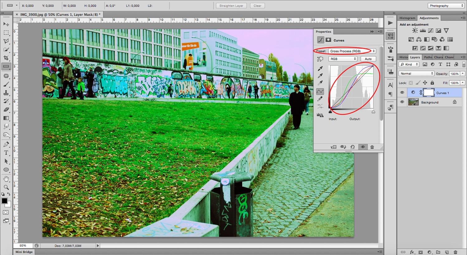 Graph - How To Mimic a Cross-Processing Effect in Photoshop
