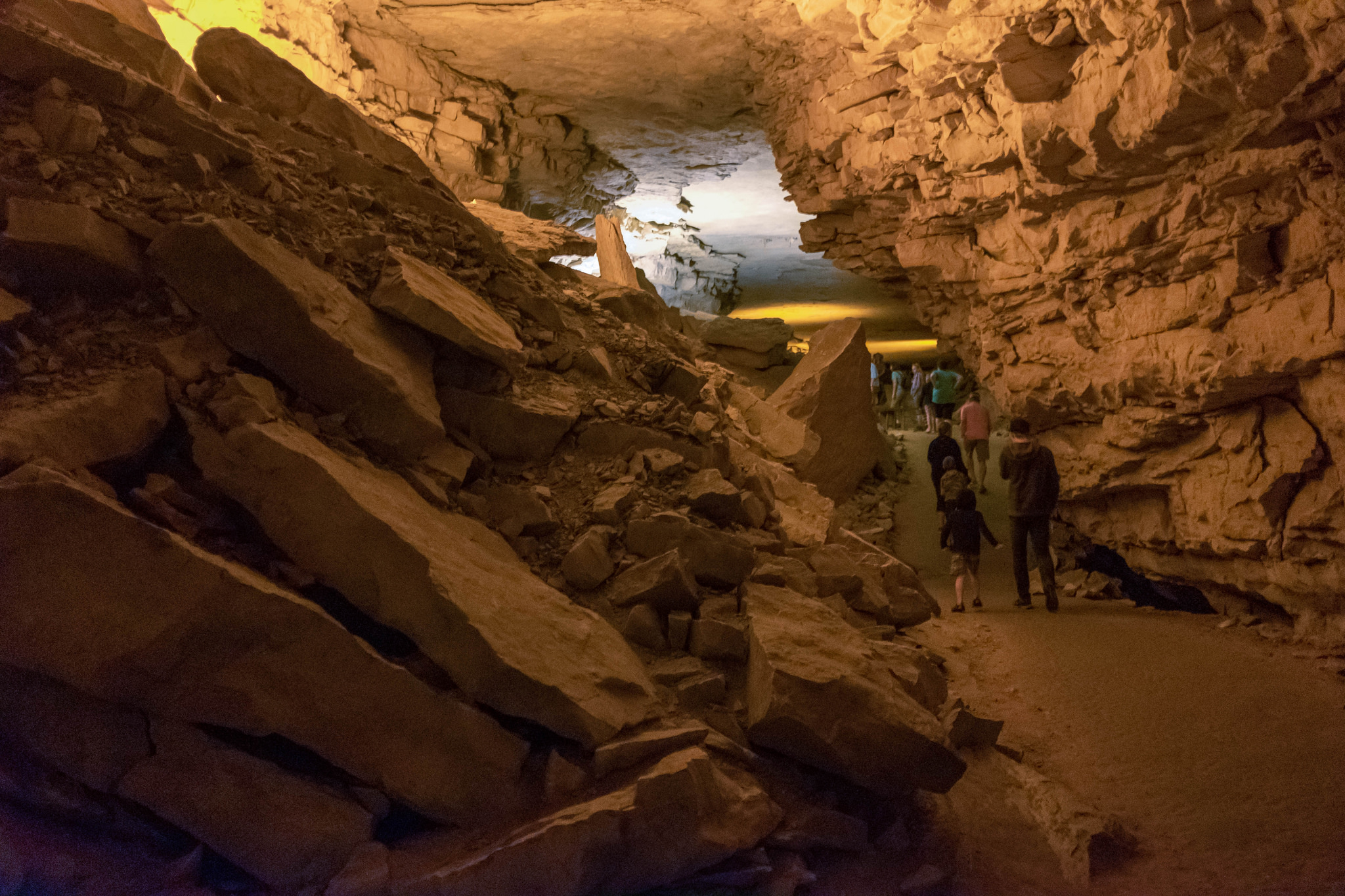 Image: I took this deep under the earth in Mammoth Cave National Park, 23mm, f/2.0, 1/20 second, ISO...