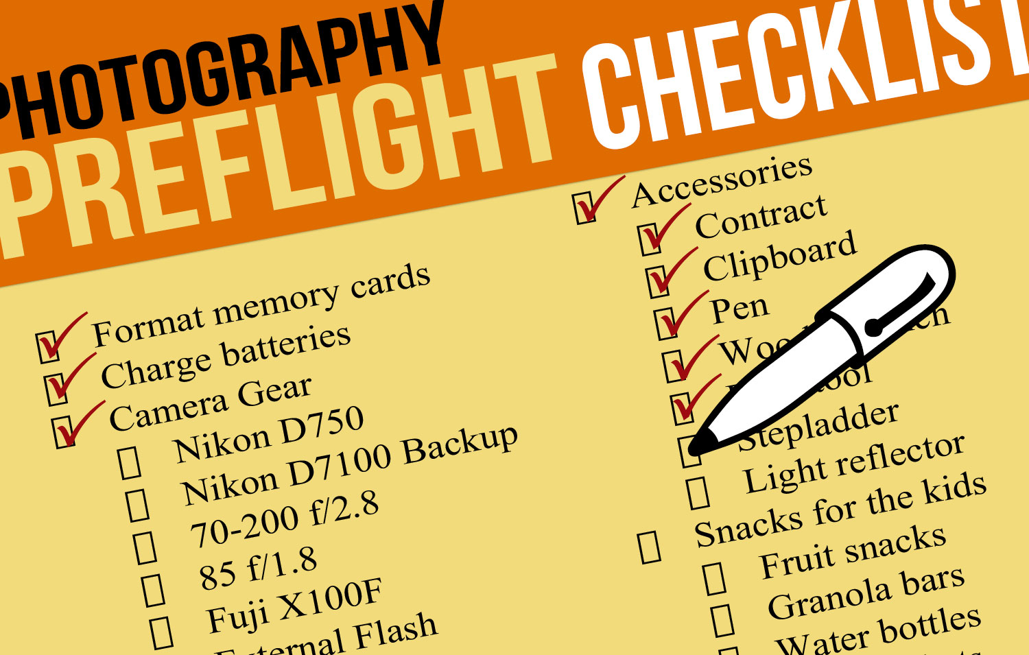 Essential Family Photo Session Preflight Checklist 1