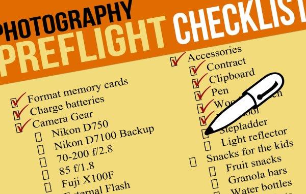 Essential Family Photo Session Preflight Checklist