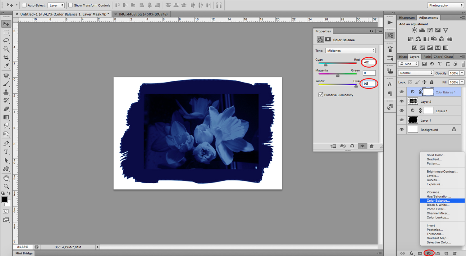 How to Mimic a Digital Cyanotype Using Photoshop with Ease