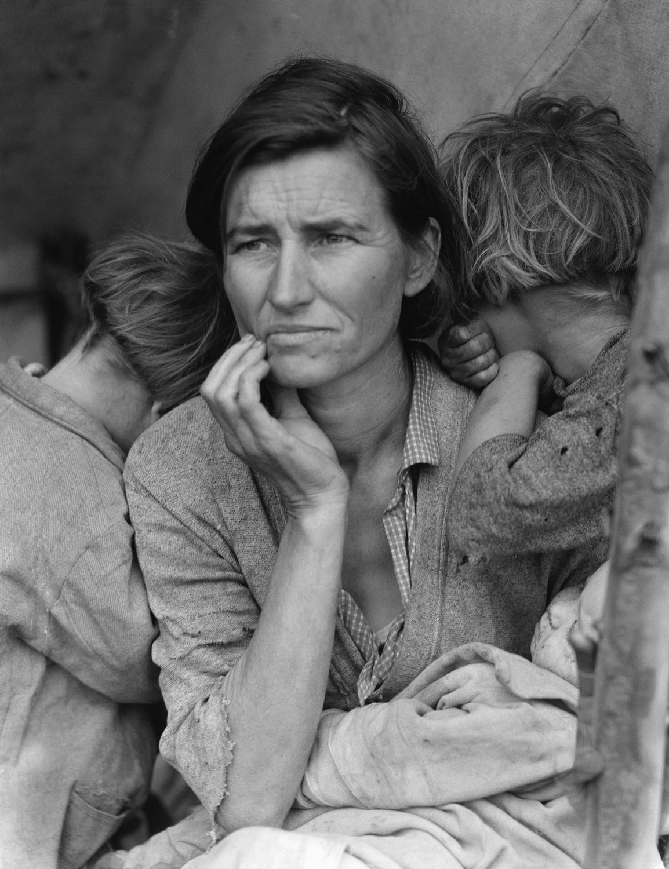 "Image: Dorothea Lange's ""Migrant Mother"". Image courtesy of Wikipedia"