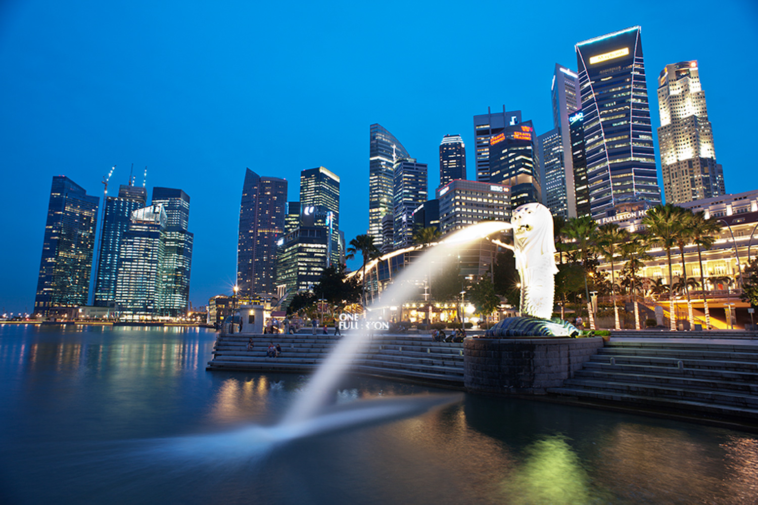 What to do When the Lights Down Low Merlion Park, Singapore