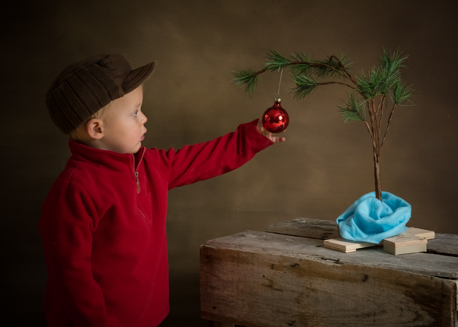 Image: Having learned about light and the nature of toddlers, I decided to create a portrait that I...