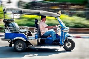 Tuktuk Panning Using a Slow Shutter Speed to a Create Sense of Motion