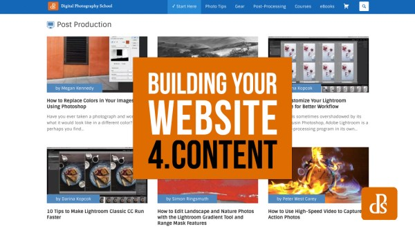 So You Want to Build a Website? Part 4: Adding Website Content