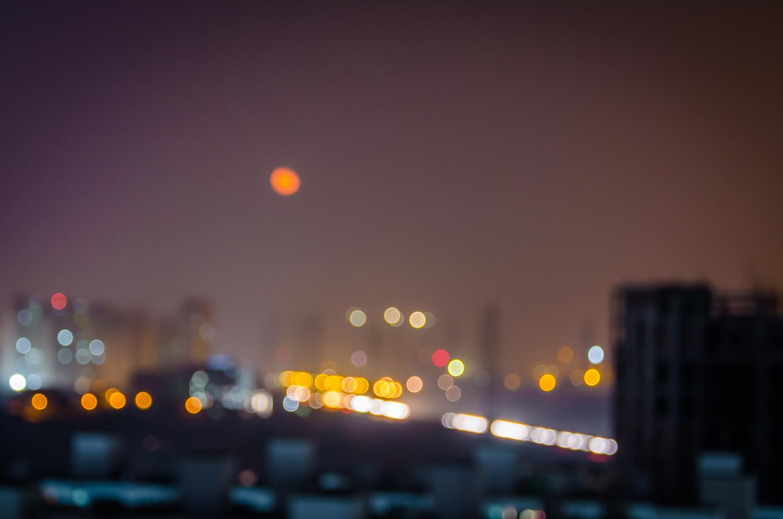 Image: Abstract Night Photograph Gurgaon © Prasad Np