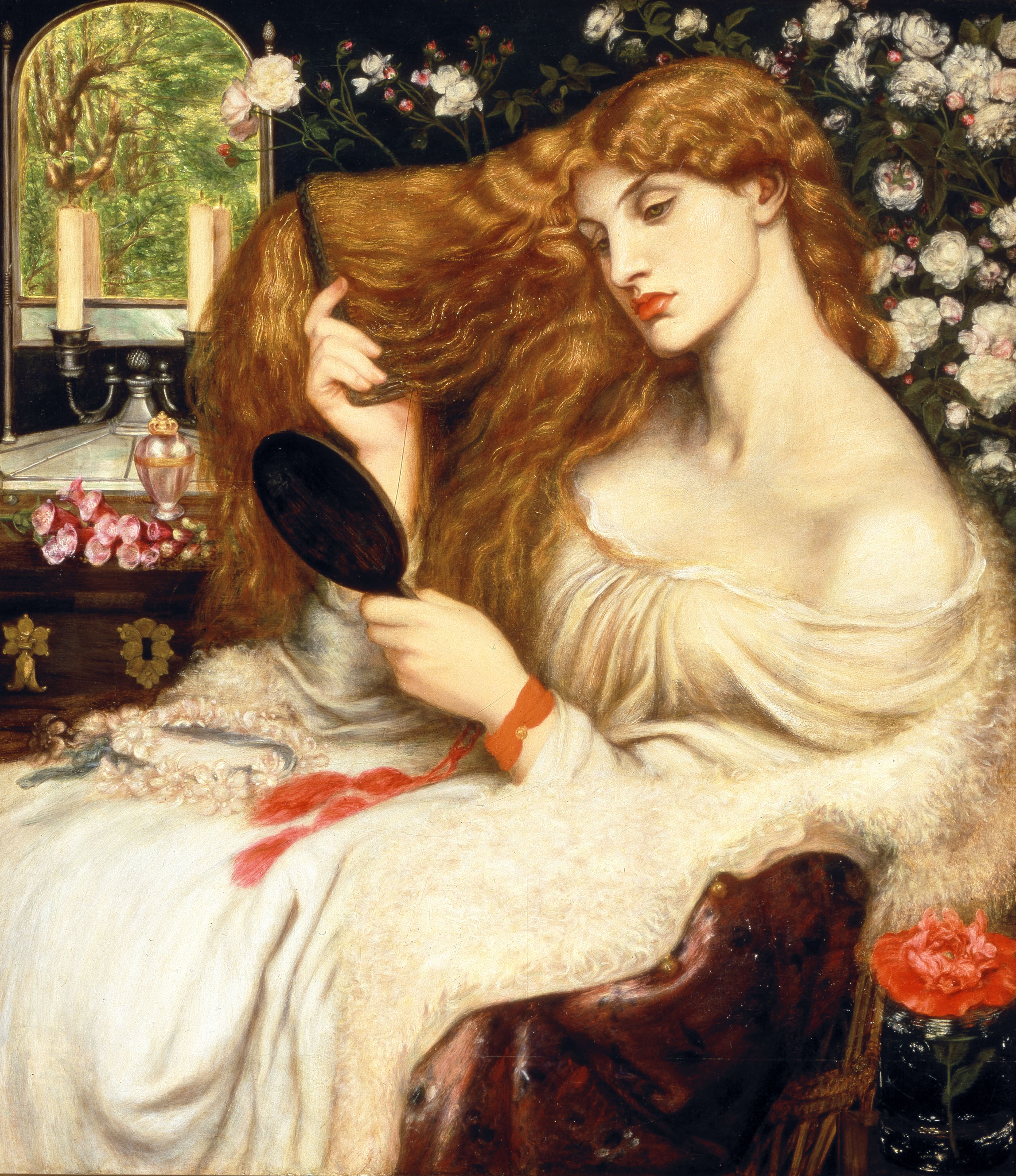 图片:Lilith夫人由前raphaelite Dante Gabriel Rossetti。图片来源:Dante Gabriel Rossetti ...