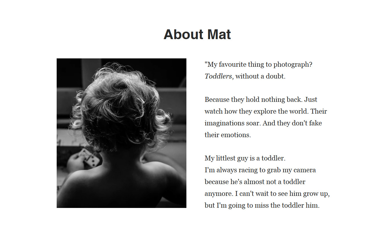 """Image: """"My favorite thing to photograph? Toddlers, without a doubt. Because they hold nothing..."""
