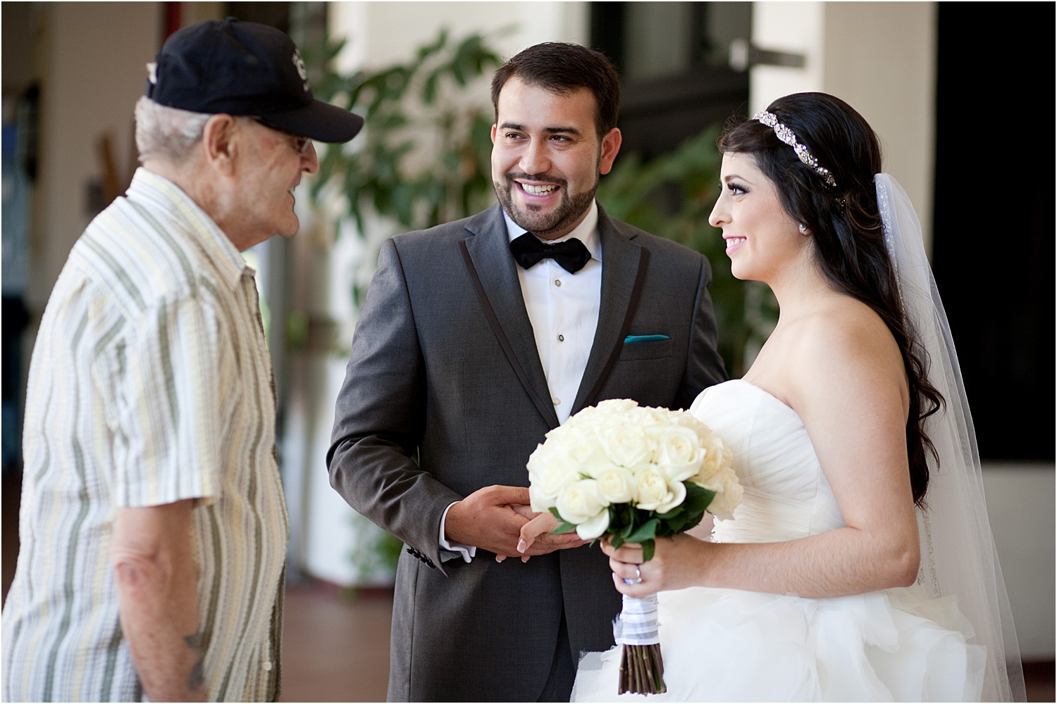 Image: Capture all moments. This man was telling the bride that she was the most beautiful bride he...