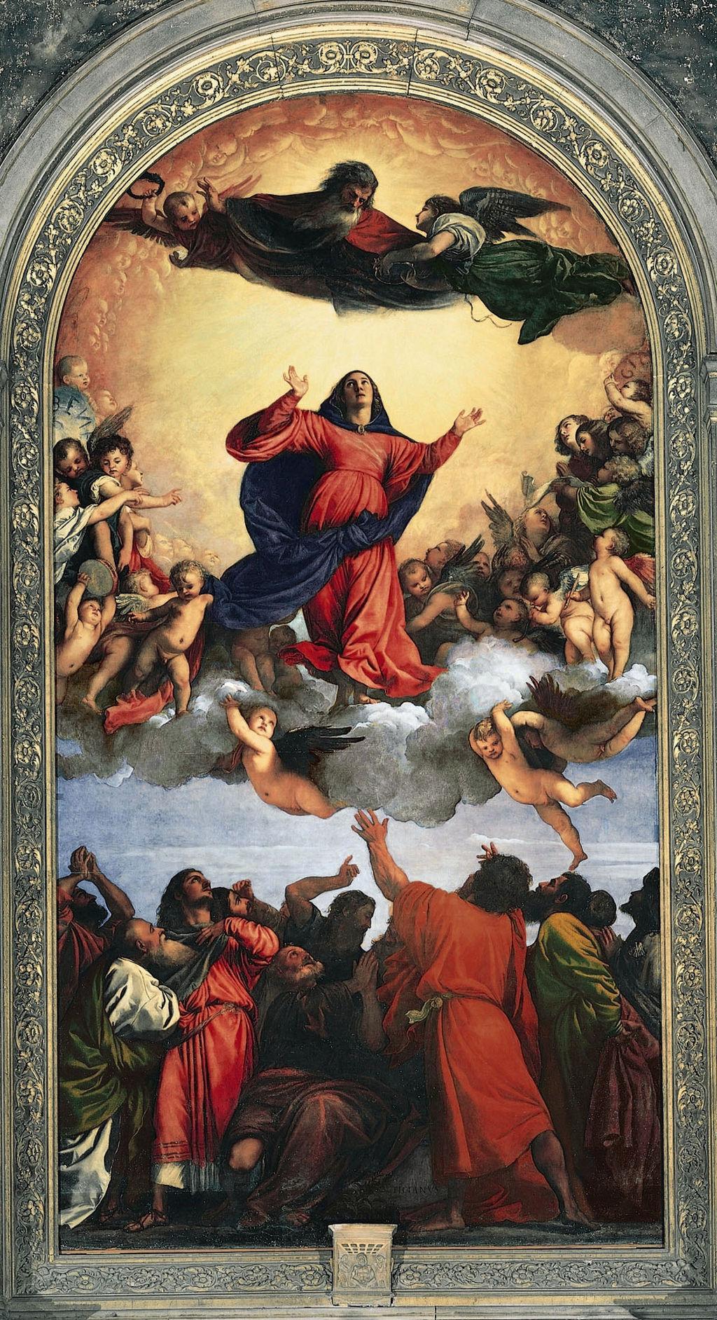 图片:提香的朱红色假设与朱红色的重音。图片来源:Titian [公共领域...