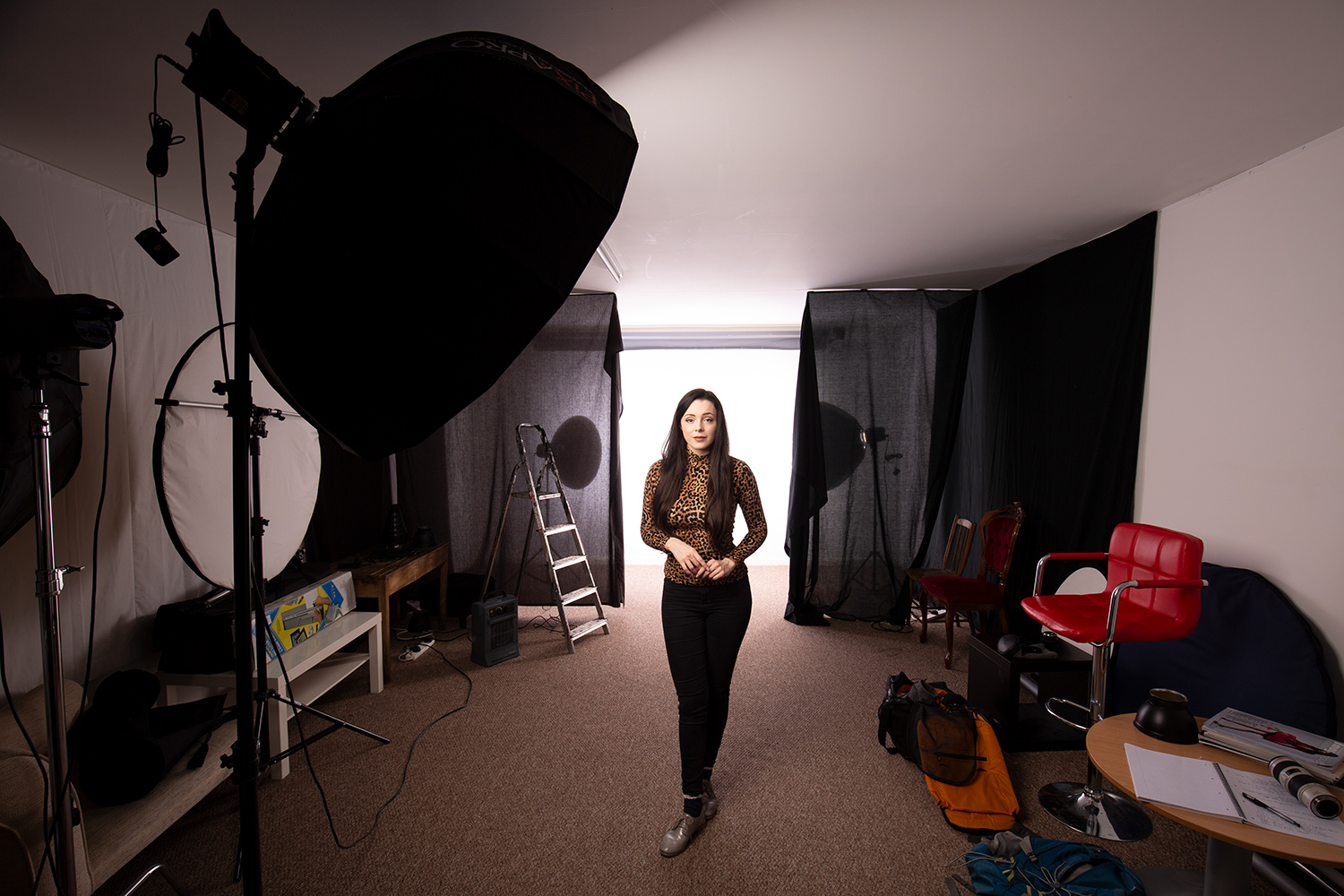 Image: Once the background lights are done, you can light your subject in any way you want.