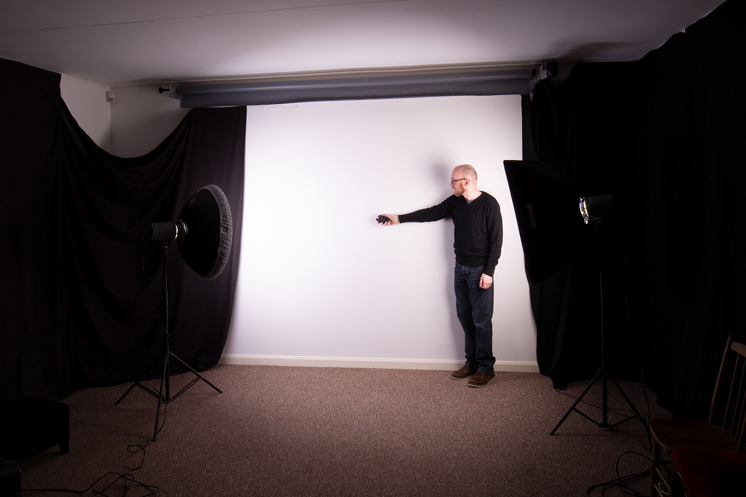 Image: The easiest way to find the exposure for you background is to use a light meter. Don't...