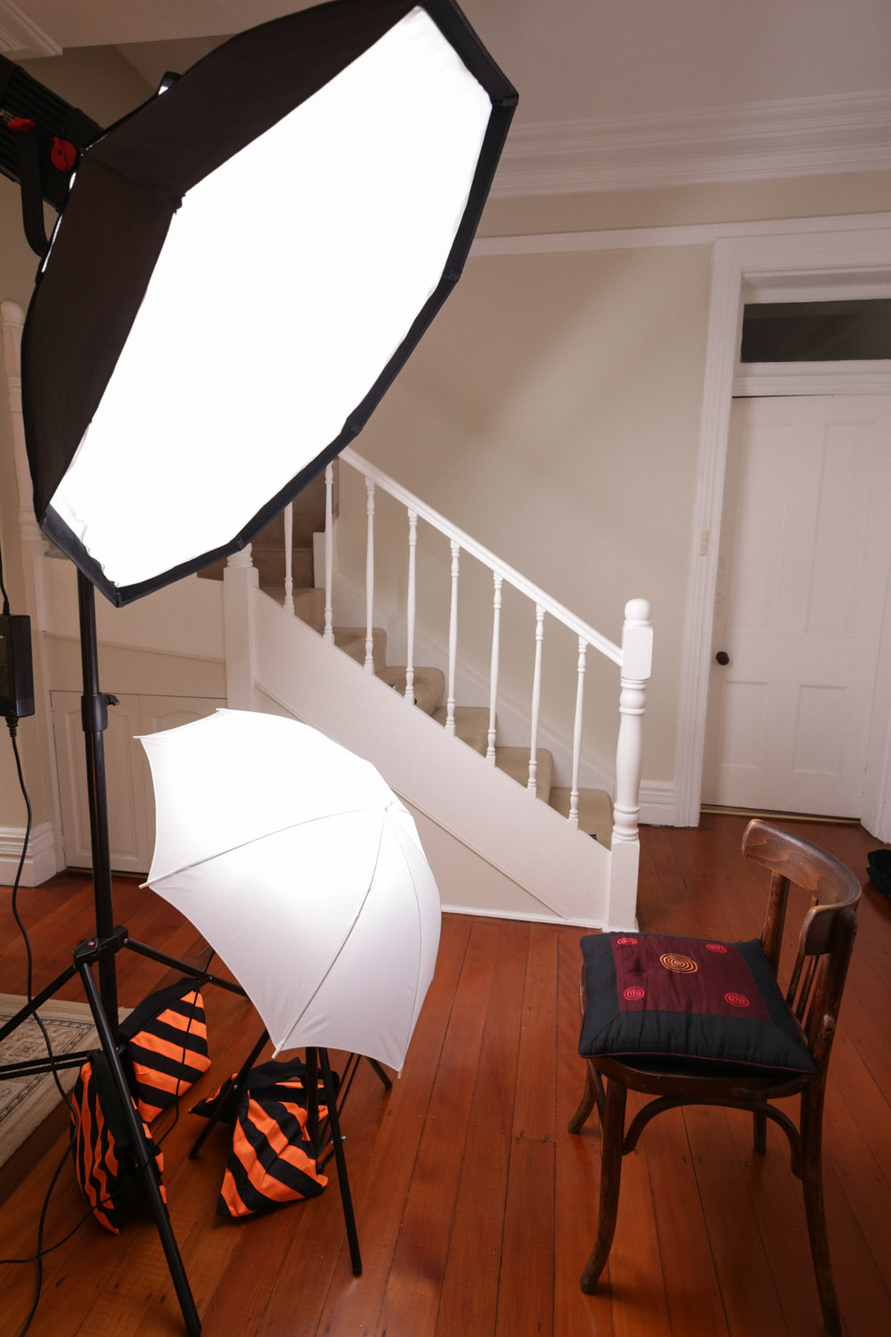 Image: The clamshell is a simple setup and can be achieved with just one key light and a reflector t...