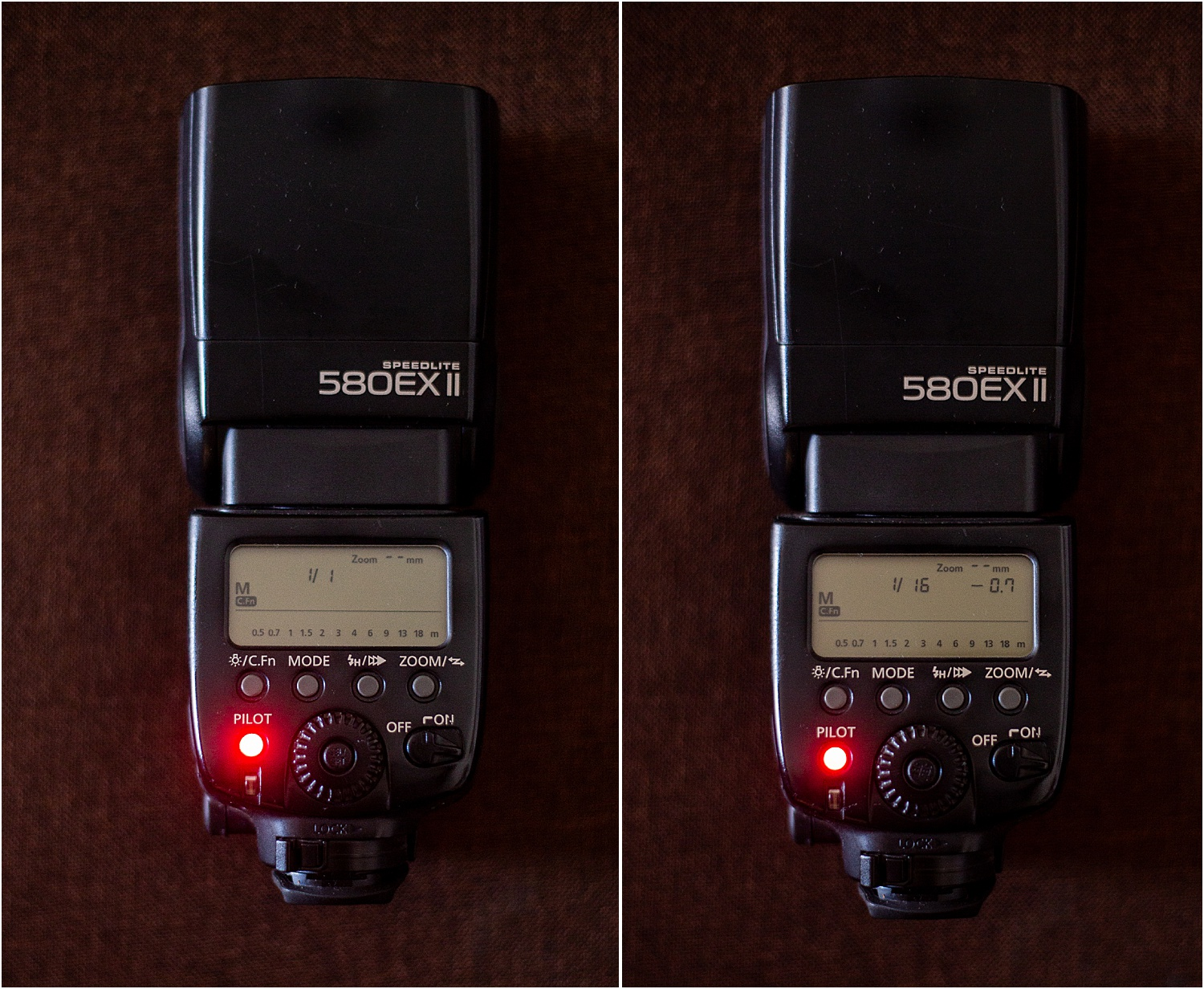 2 - Use of manual mode on your external flash
