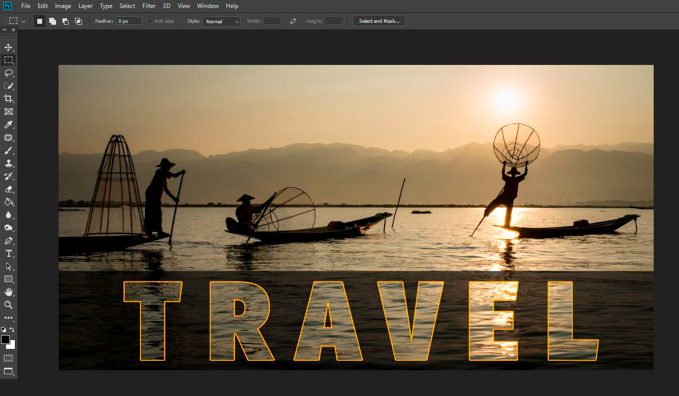 How To Use Photoshop to Create an Image Inside Your Text Experiment with new layers