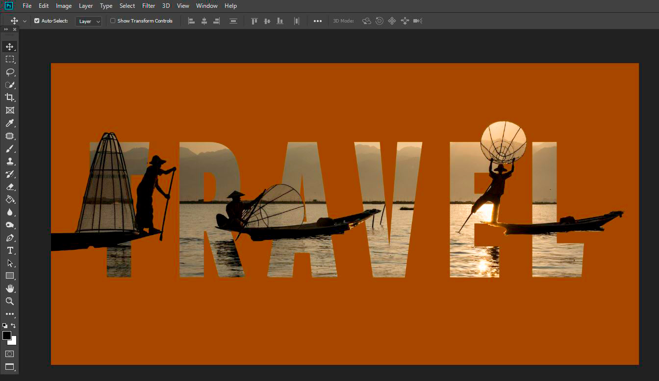 How To Use Photoshop to Create an Image Inside Your Text Change Font