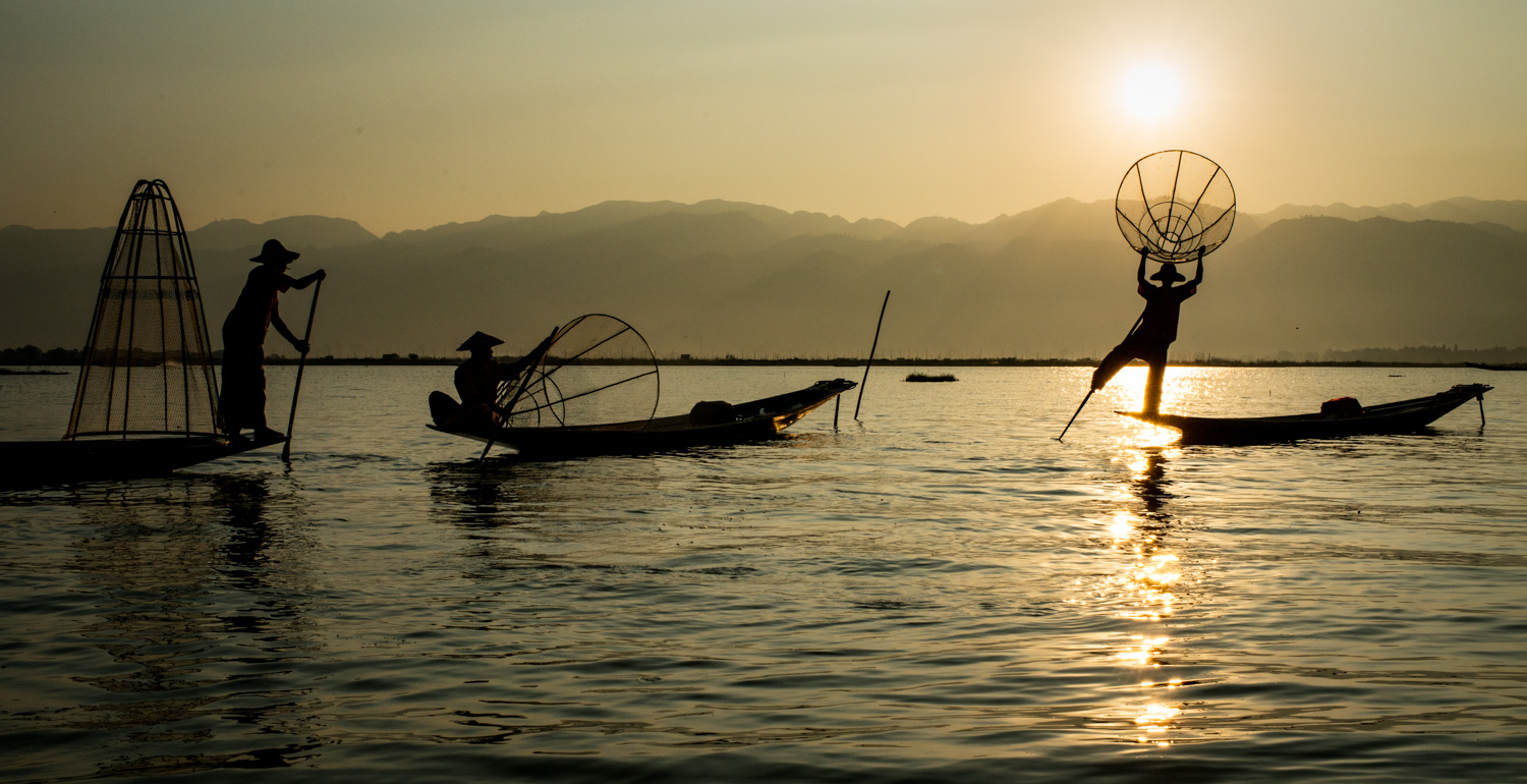 How To Use Photoshop to Create an Image Inside Your Text Inle Lake fishermen, Myanmar