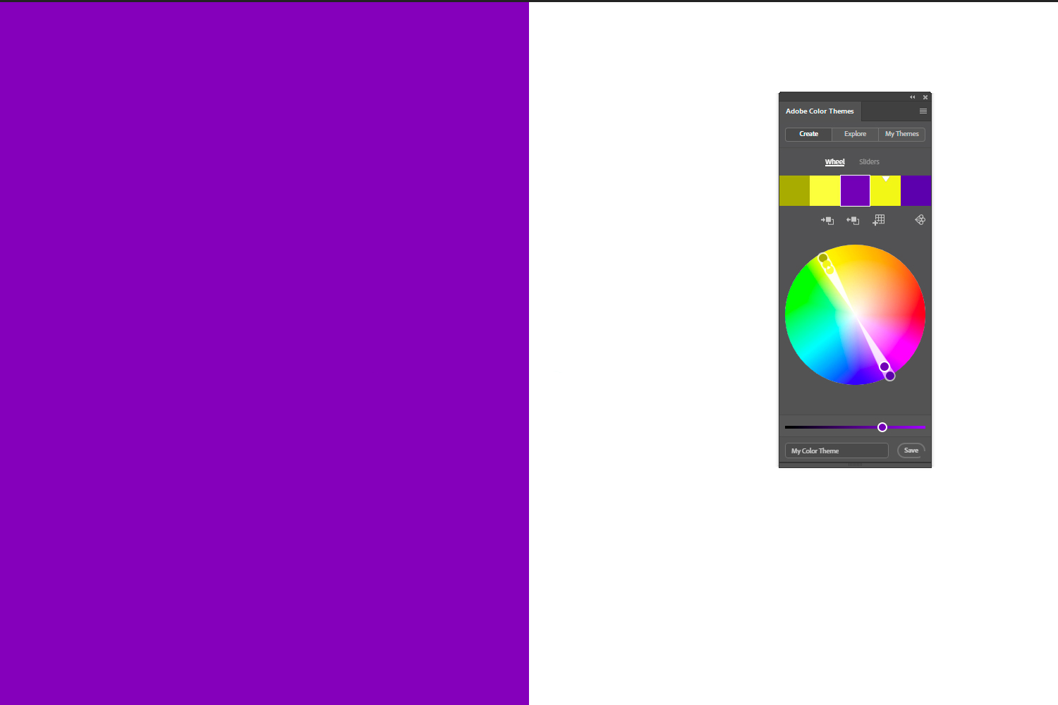 Adobe color themes - complementary colors