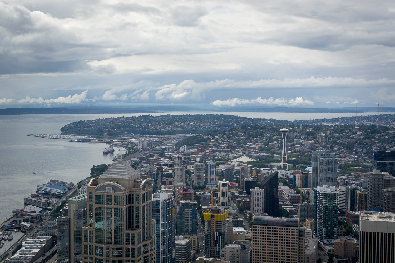 Image: Original image, shot from the Columbia Center skyscraper in downtown Seattle.