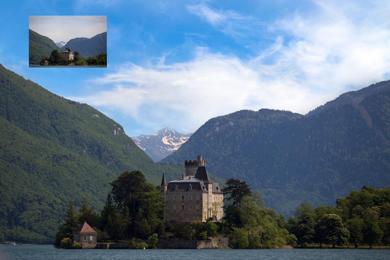 Digitally adding skies in Photoshop