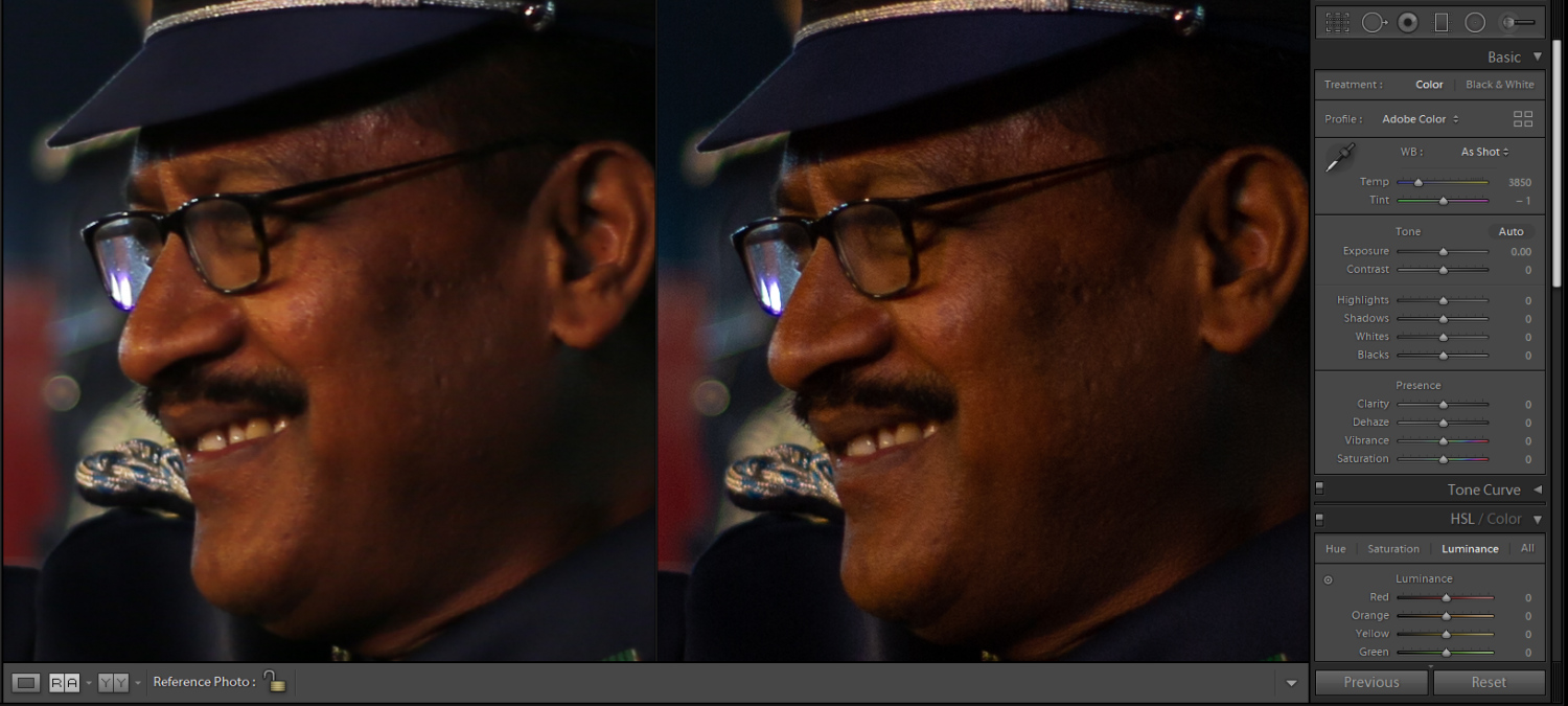 Image: The JPEG image on the left is soft, while the RAW file on the right is sharp.