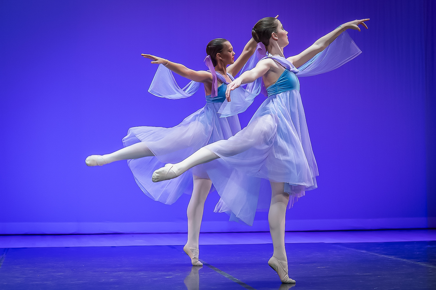 Image: Shooting these ballet dancers under frequently changing stage lighting without flash is a cha...