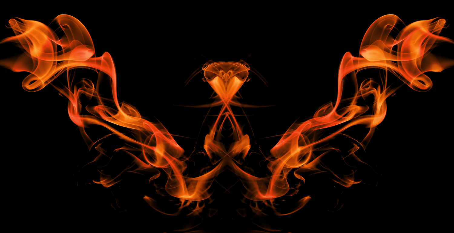Abstract smoke photography - Firebird