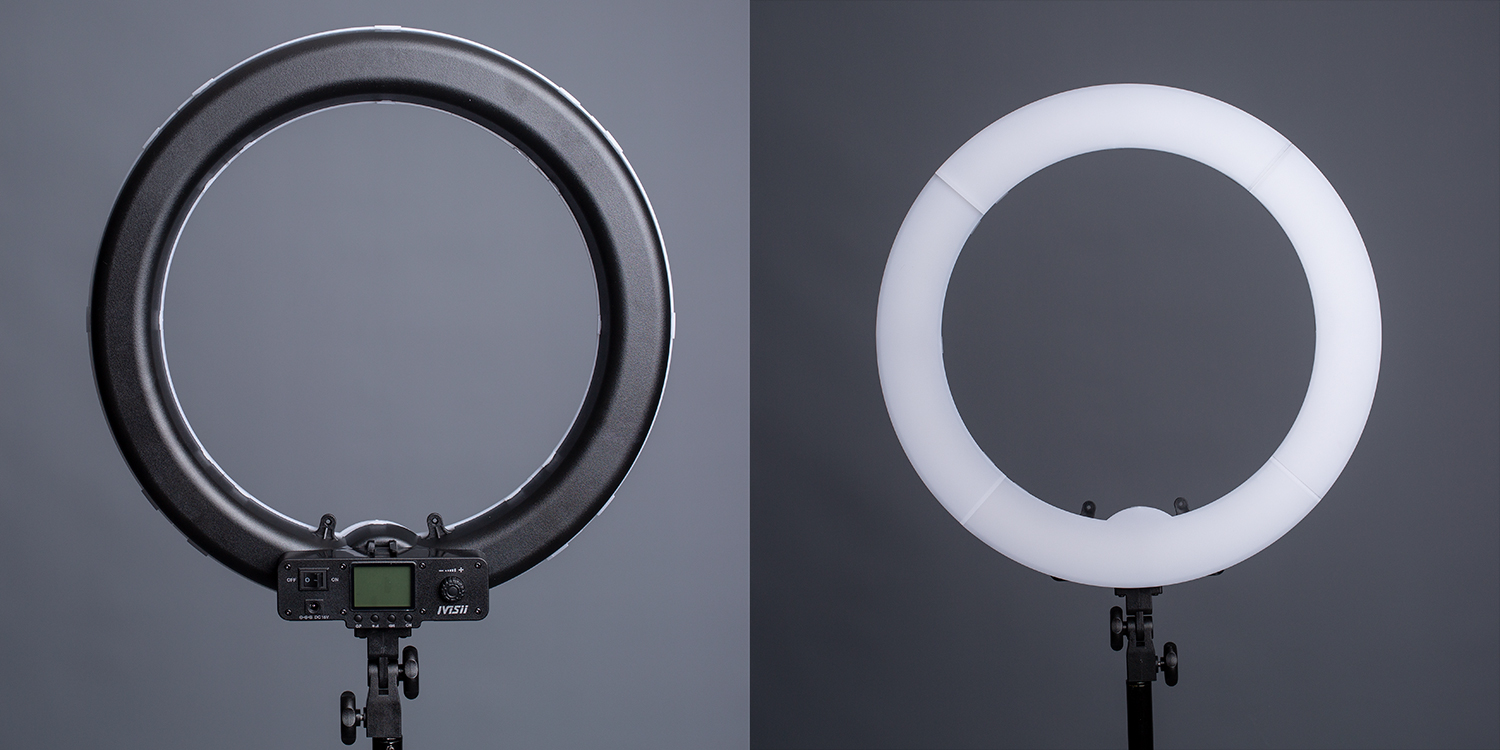the front and back of a ring light