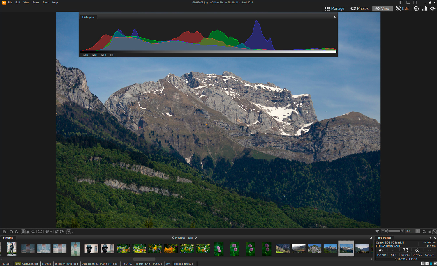 Using the histogram - ACDSee software