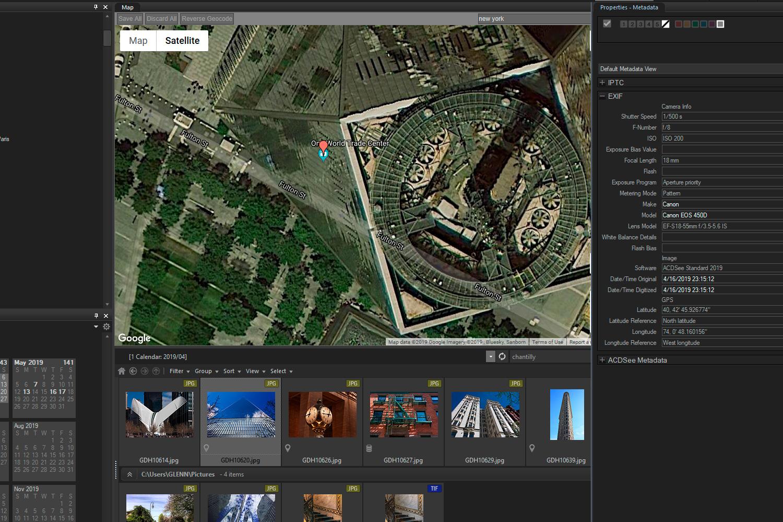 Embedding GPS coordinates into photos