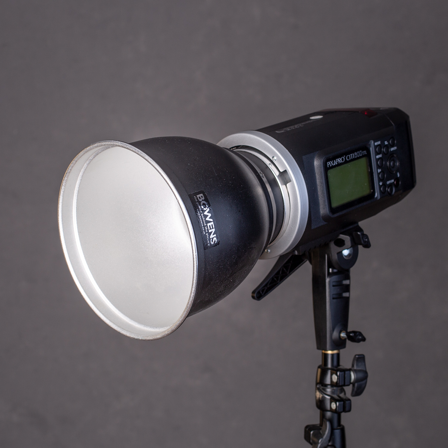 Image: Reflectors, like this 110-degree reflector, provide a very directional and very hard light so...