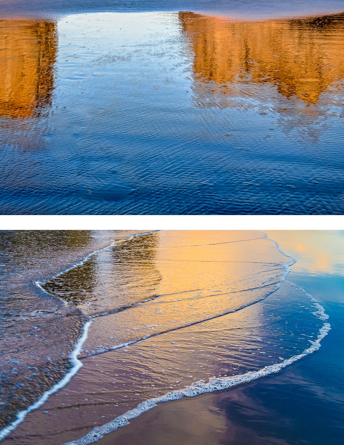 Image: Reflections on the wet sand make great watercolors. © Rick Ohnsman