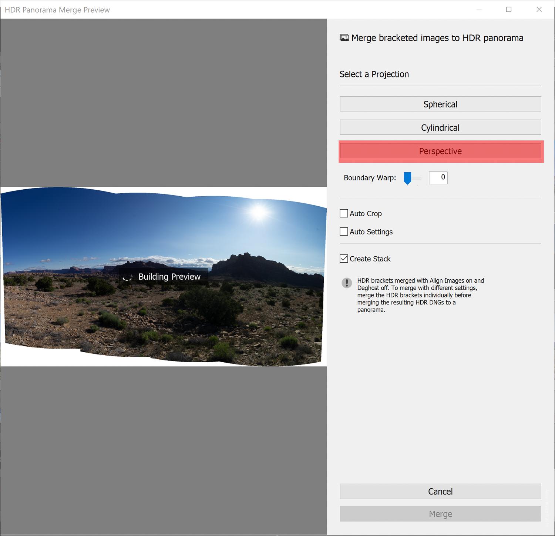如何在Lightroom Classic CC中使用HDR全景照片合并