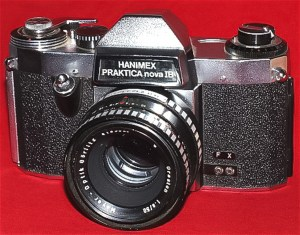 "Image: My first ""real"" camera – a 35mm Hanimex Praktica Nova 1B"