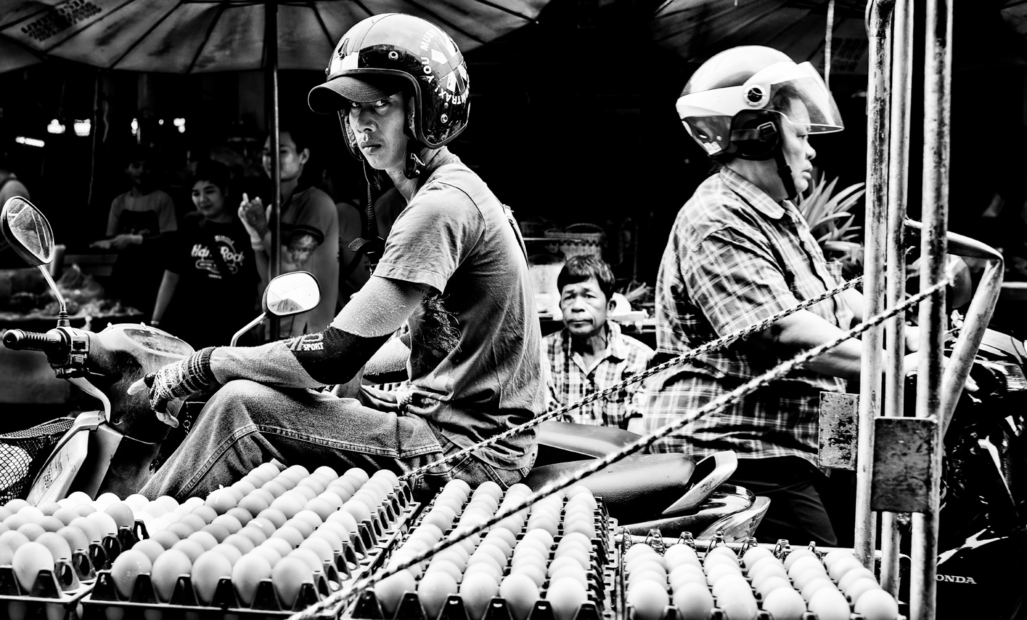 Egg Man black and white