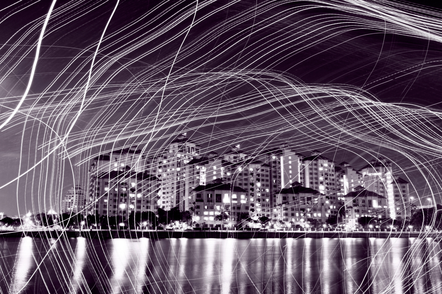 Image: Other movements can be used for kinetic light painting. The risk is the photo becomes too bus...