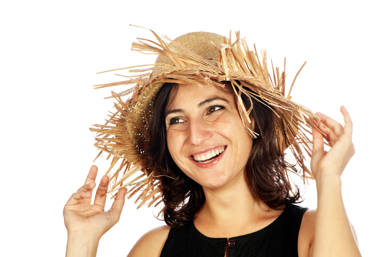 DPS Ultimate Guide to Photographing People for Shy Photographers Smiling woman wearing a straw hat