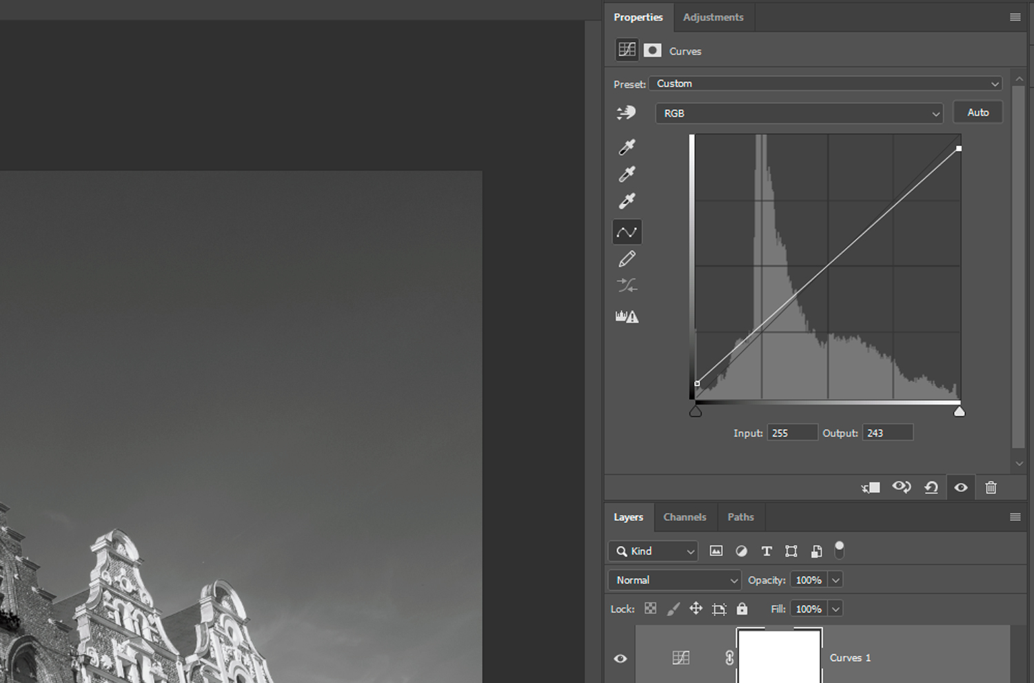compressing the tonal range of photos