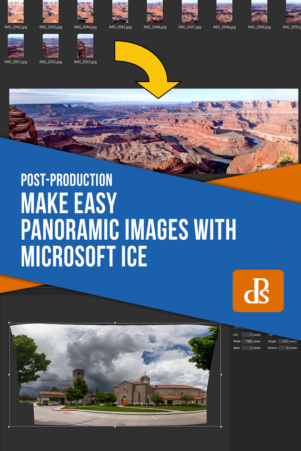 panoramic images with Microsoft ICE