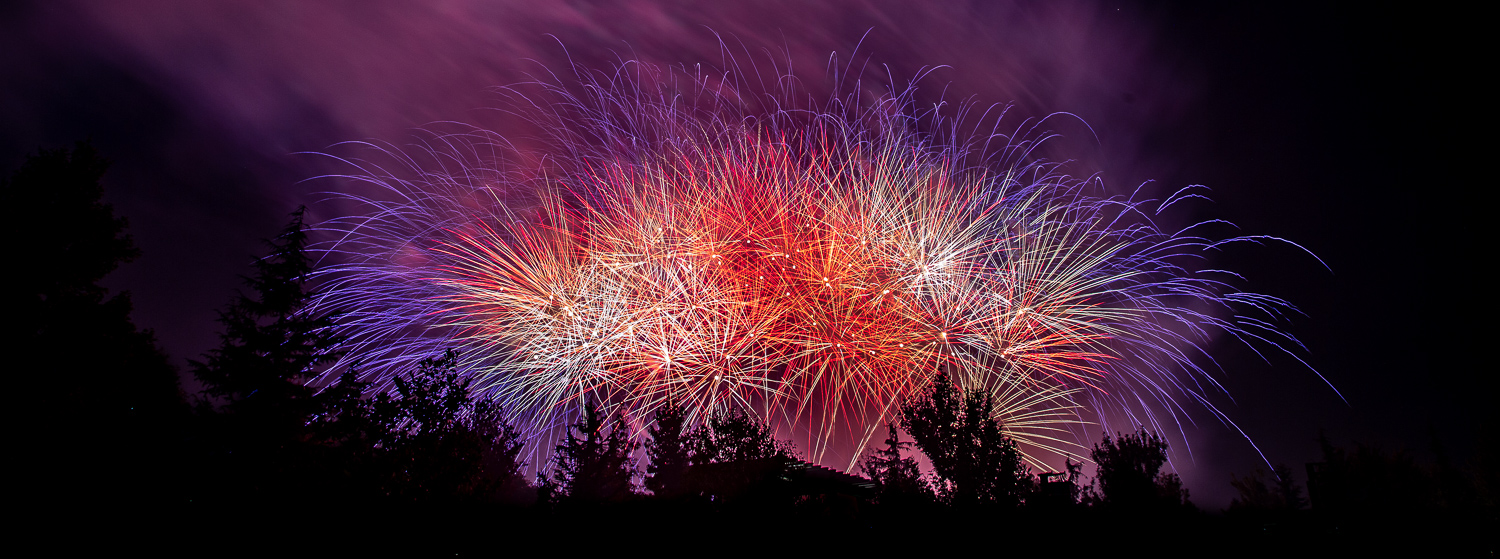 Image: There may be a frenzy of fireworks at the show finale. Keep the shutter open and capture it a...