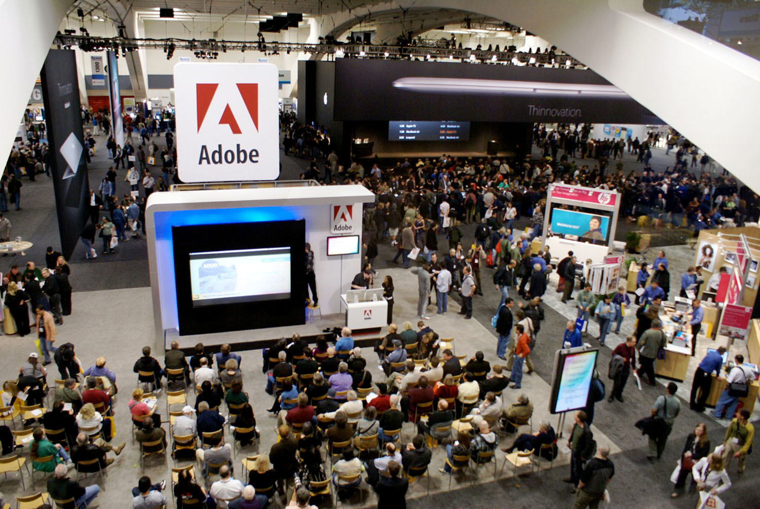 Image: Adobe booth at MacWorld show in San Francisco.