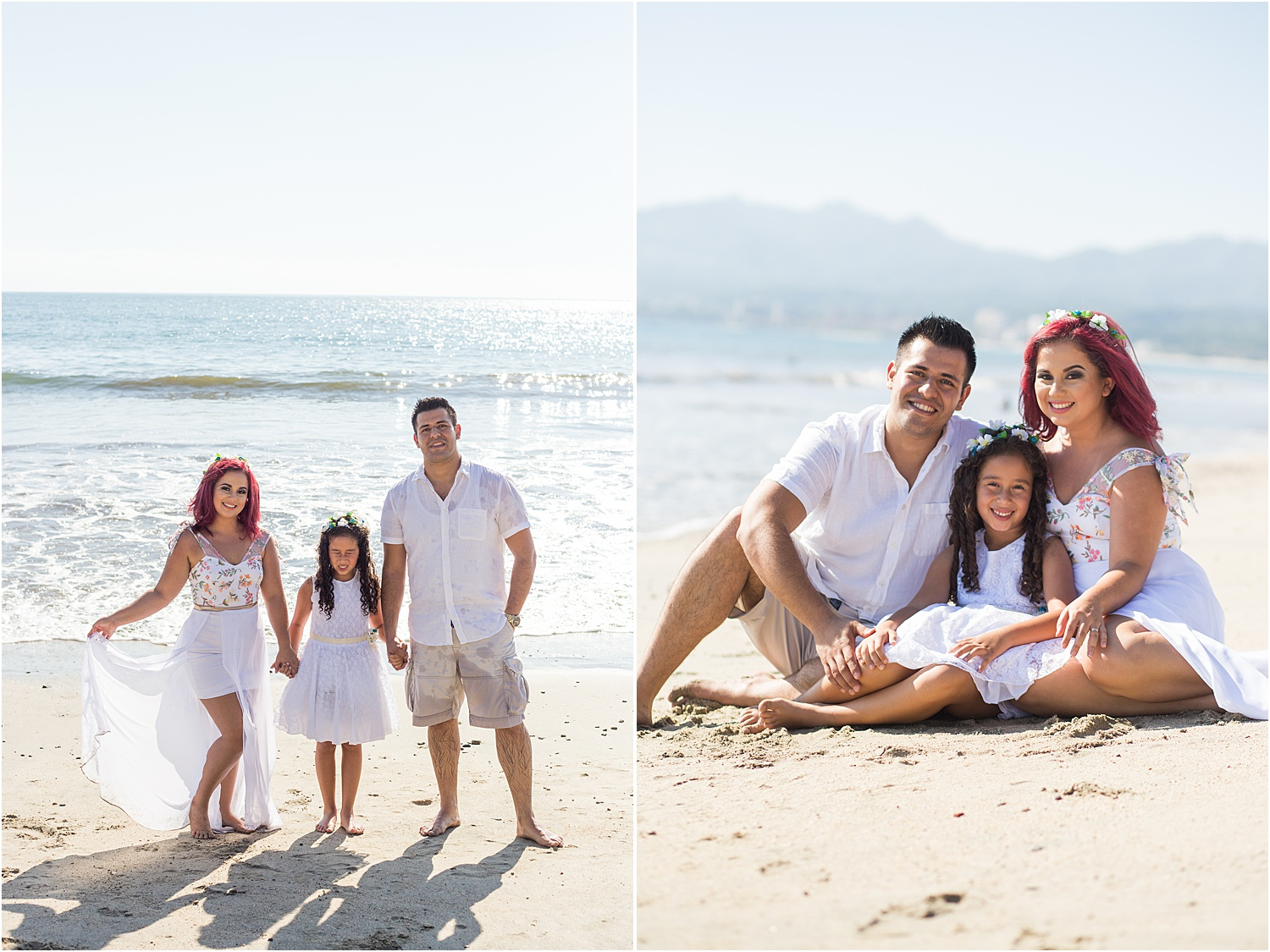 Image: Using the sand as a natural reflector helps to bounce light back onto your clients as we can...