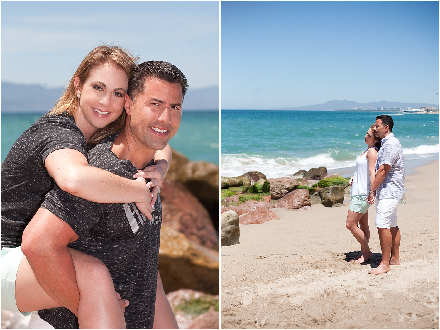 Image: Same session, same beach, one photo with flash and one photo without.