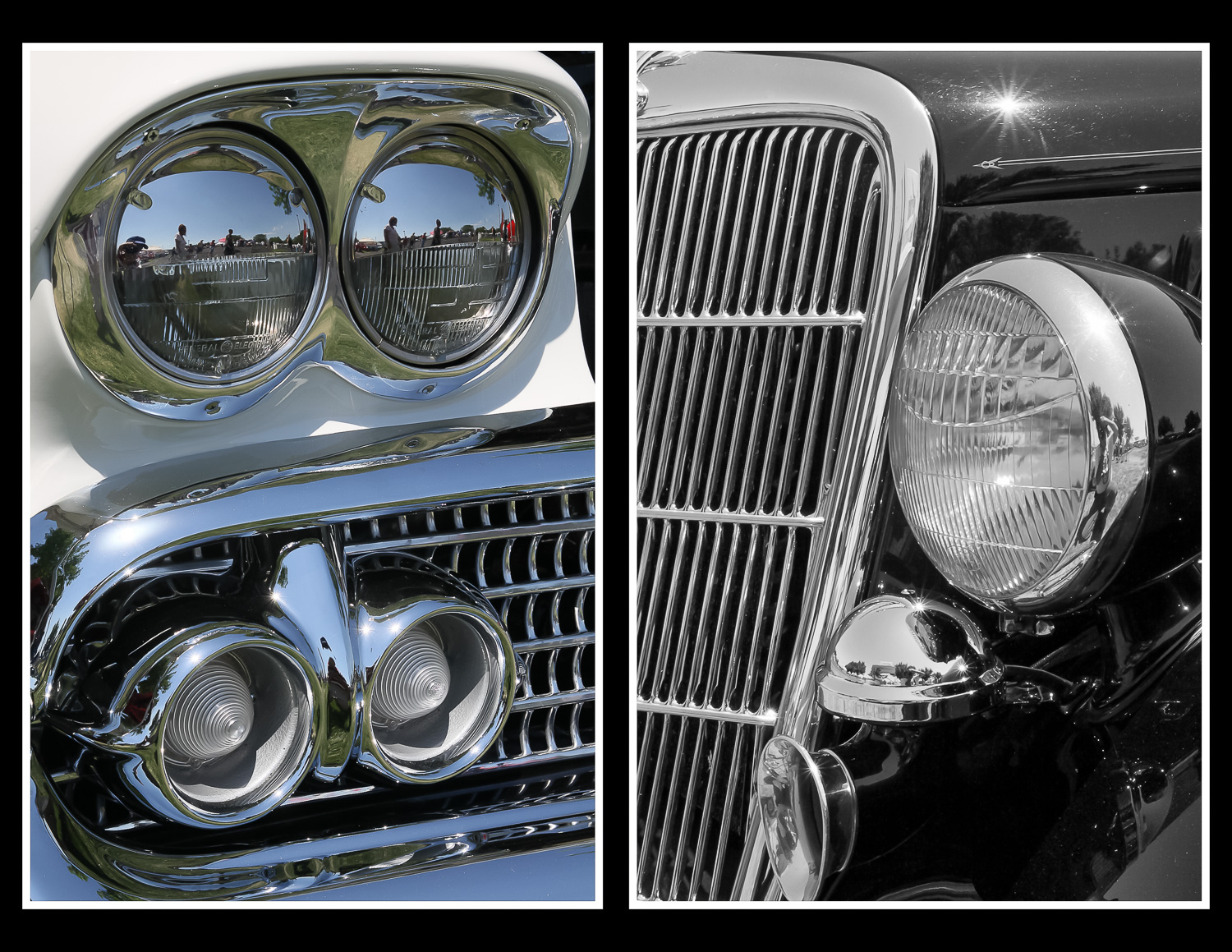 reflections in old cars