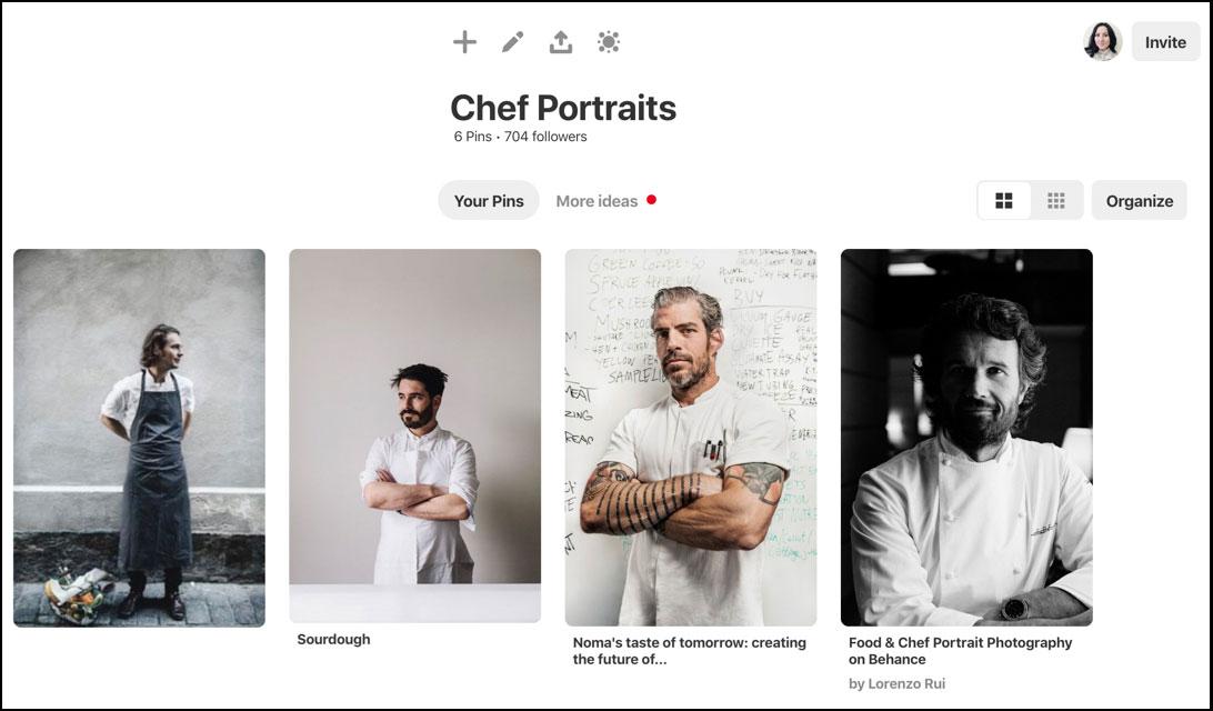 chef portraits board