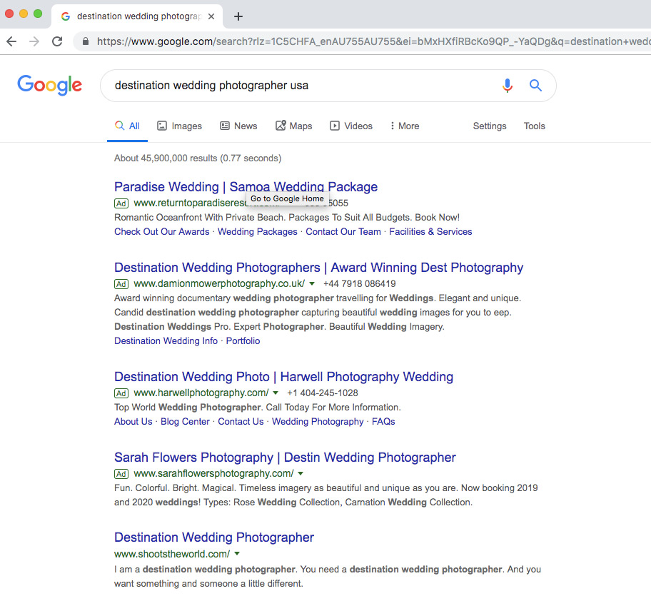 Image: Have an understanding of what your potential client may search for when trying to find a phot...