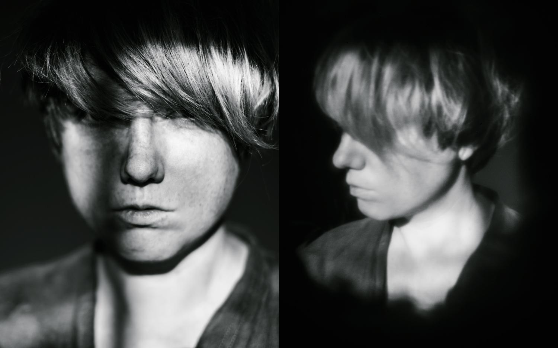 comparison of sharp portrait and pinhole portrait