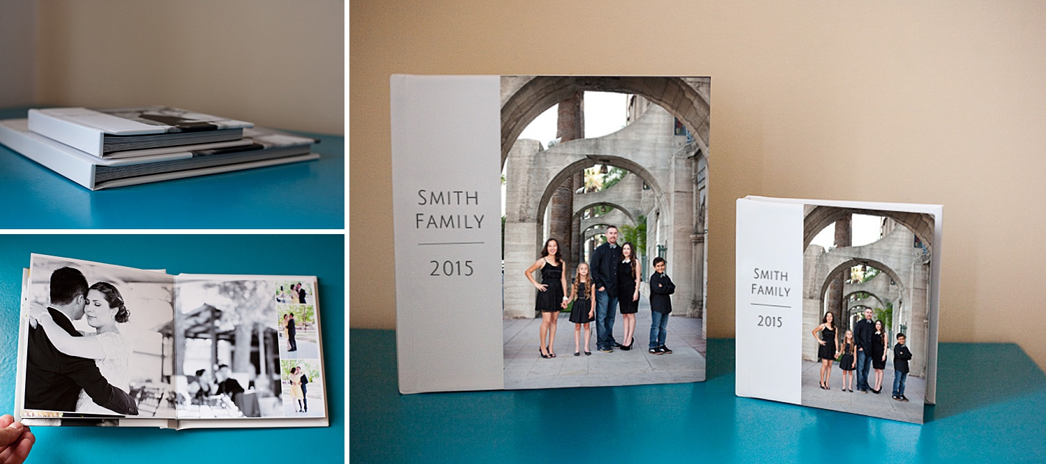 Image: Having sample albums in smaller sizes can help your clients visualize the final product.