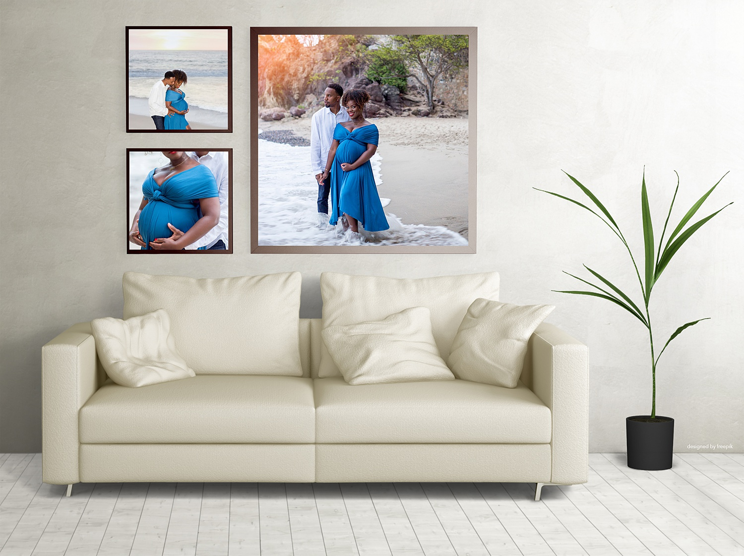 Image: You can use a gallery mock-up like this to sell wall galleries, frames, or other products dur...